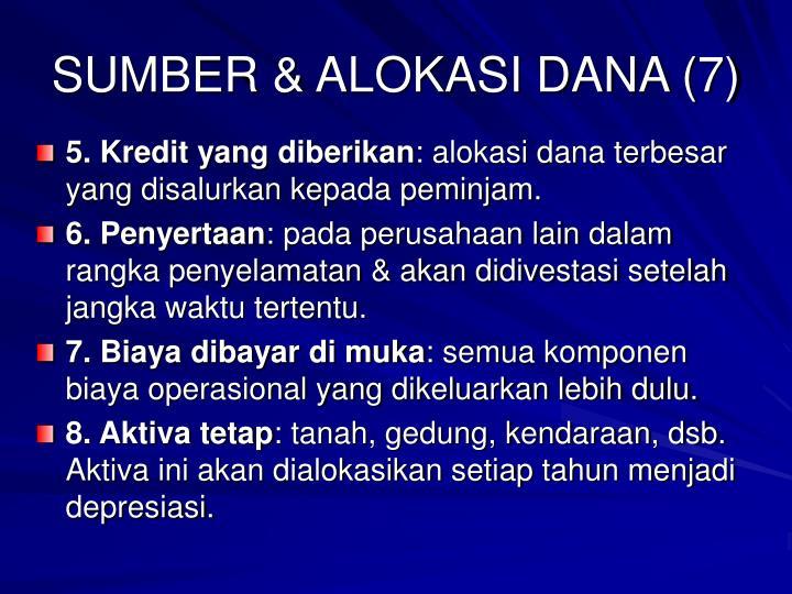 SUMBER & ALOKASI DANA (7)