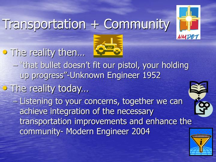 Transportation community