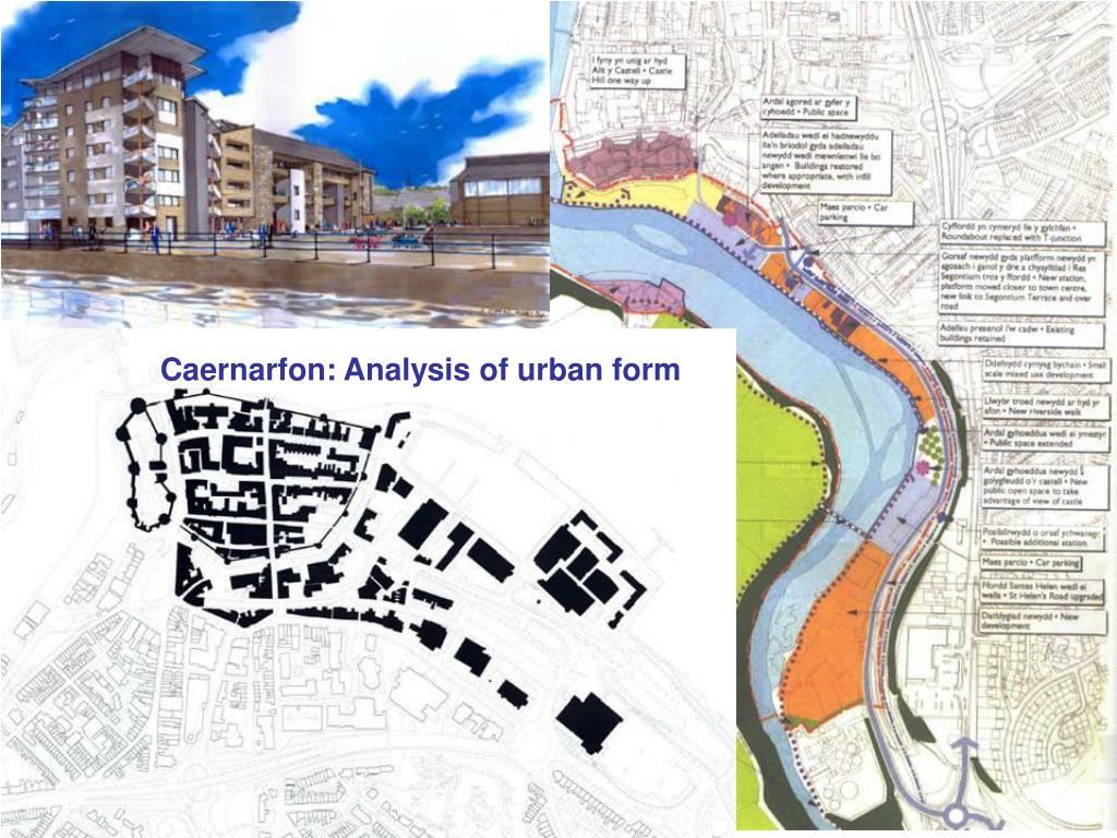 Caernarfon: Analysis of urban form