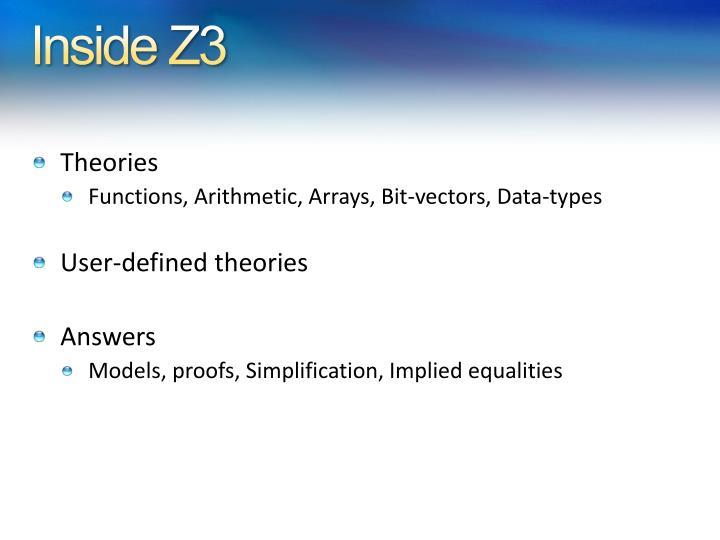 Inside Z3
