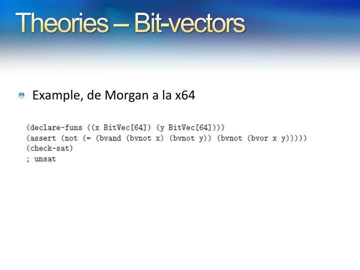 Theories – Bit-vectors