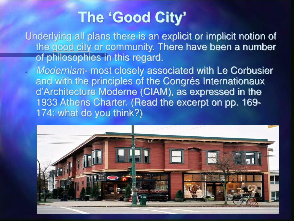 The 'Good City'