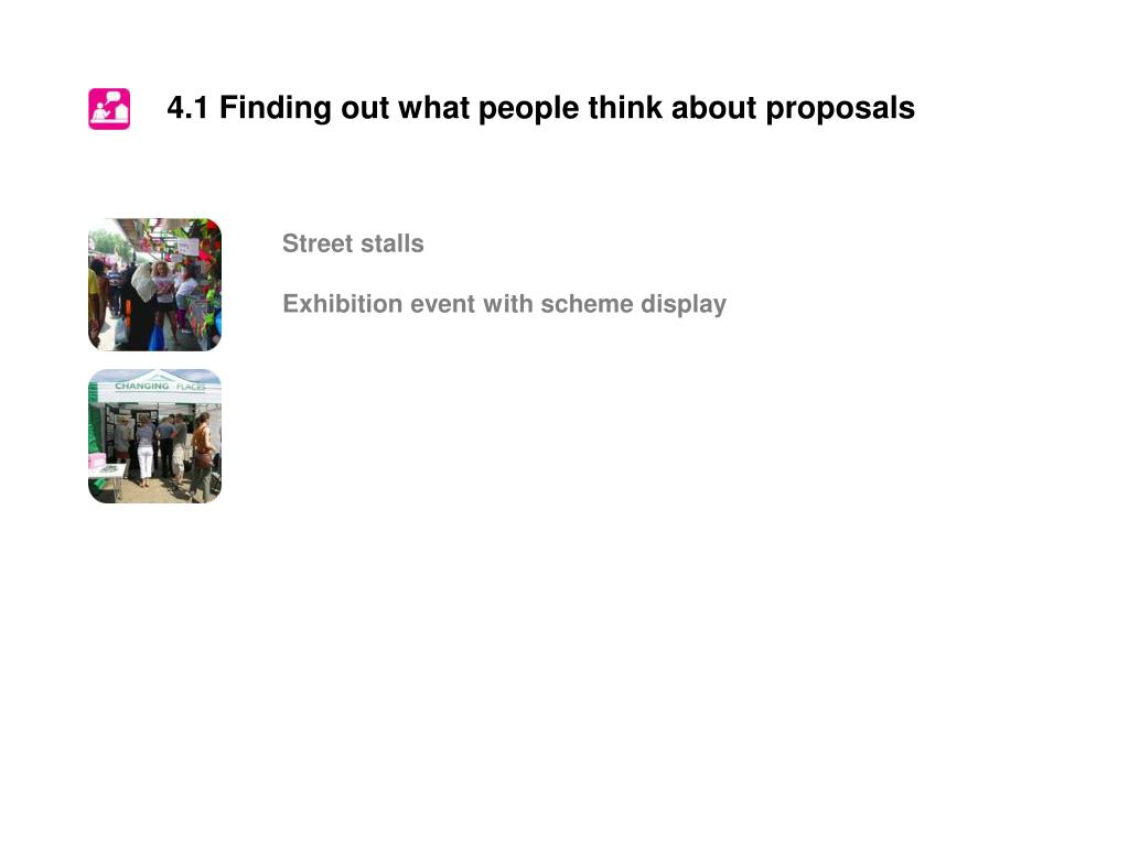 4.1 Finding out what people think about proposals