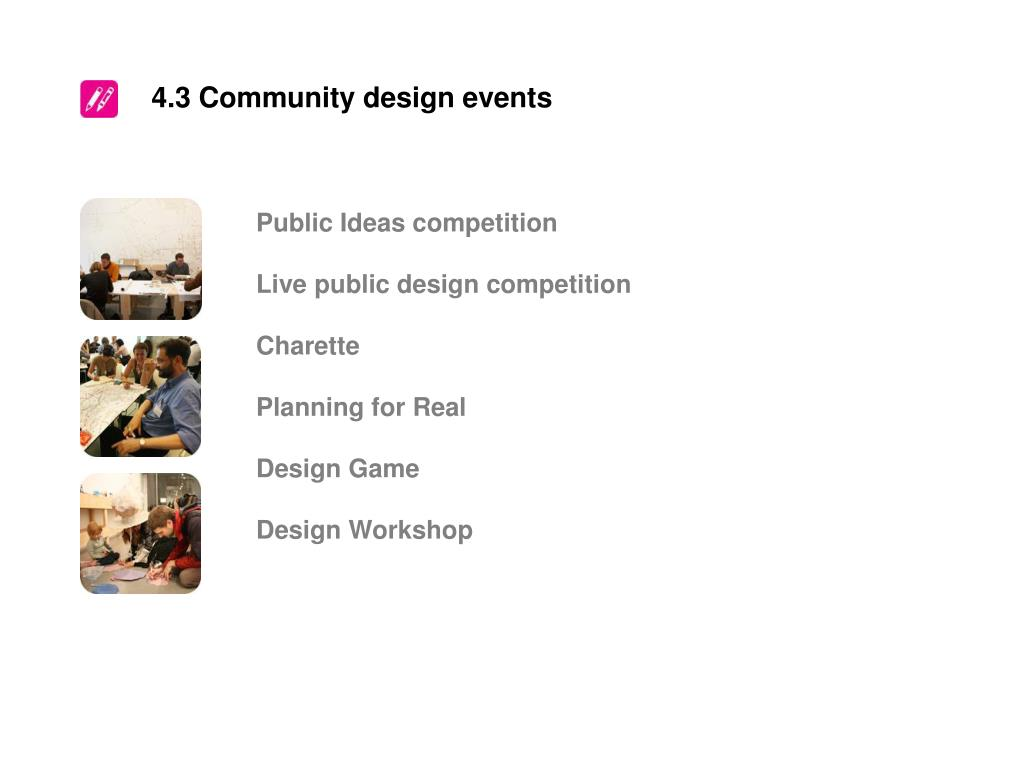 4.3 Community design events