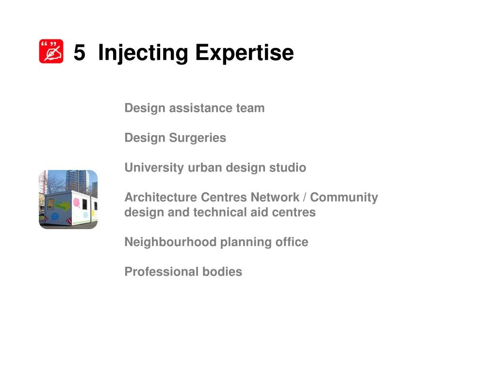 5  Injecting Expertise
