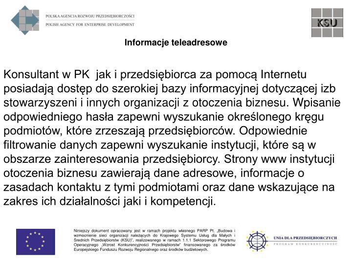Informacje teleadresowe