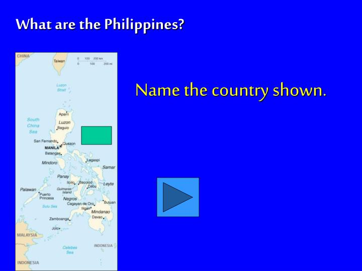 Name the country shown.