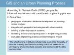 gis and an urban planning process