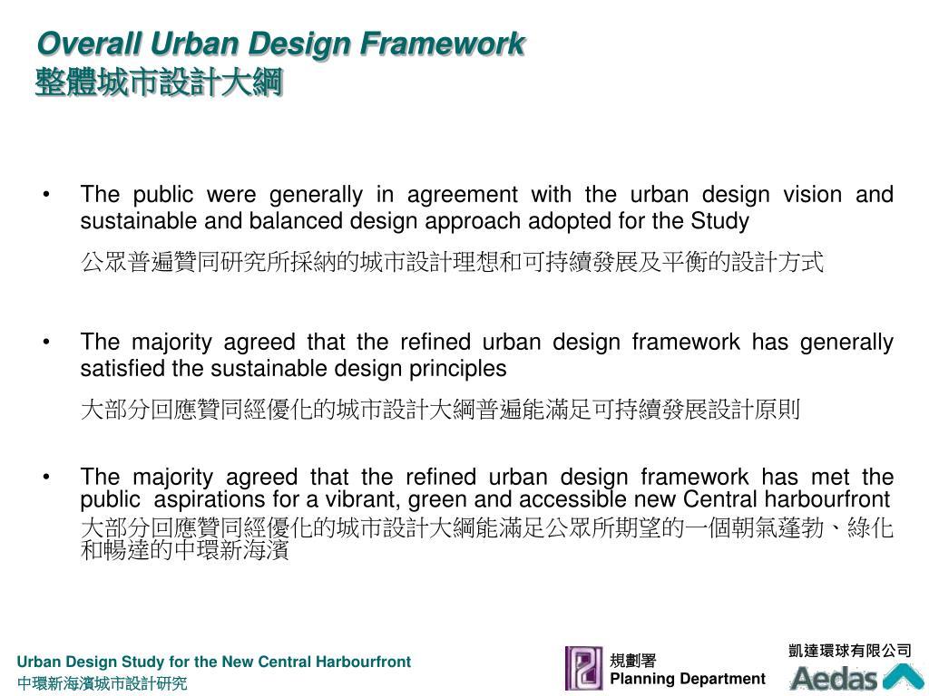 Overall Urban Design Framework