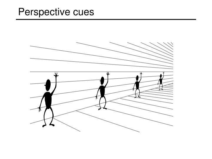 Perspective cues