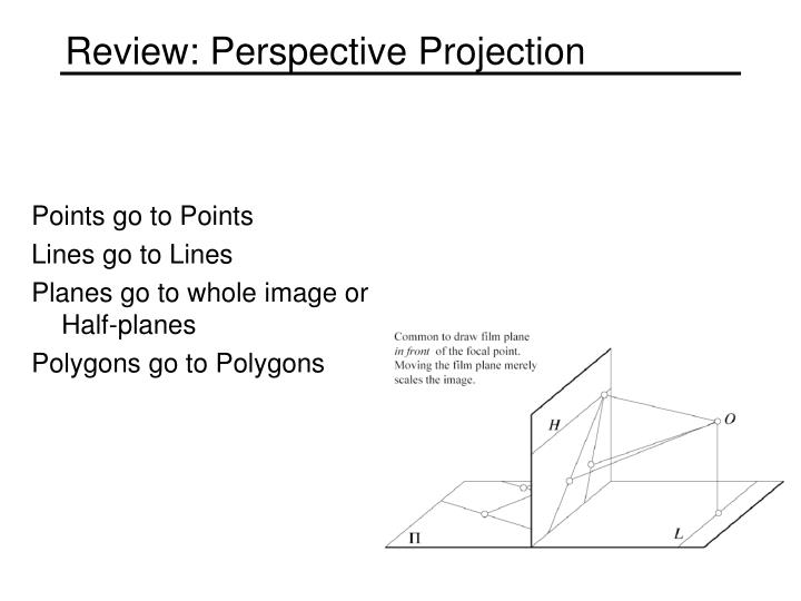Review: Perspective Projection