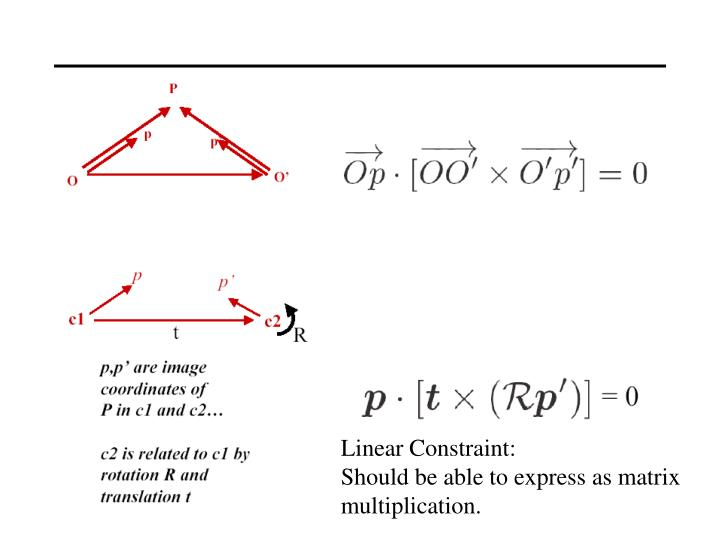 Linear Constraint: