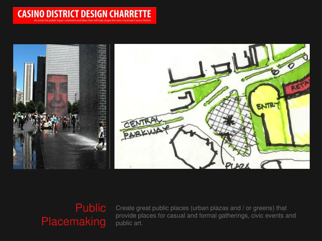 Create great public places (urban plazas and / or greens) that provide places for casual and formal gatherings, civic events and public art.
