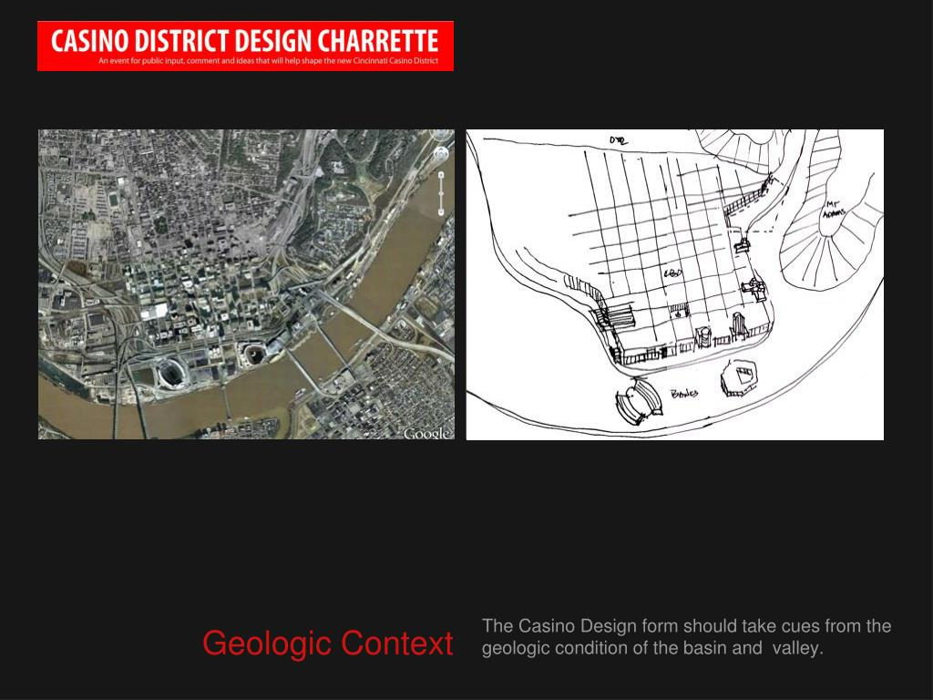 The Casino Design form should take cues from the geologic condition of the basin and  valley.