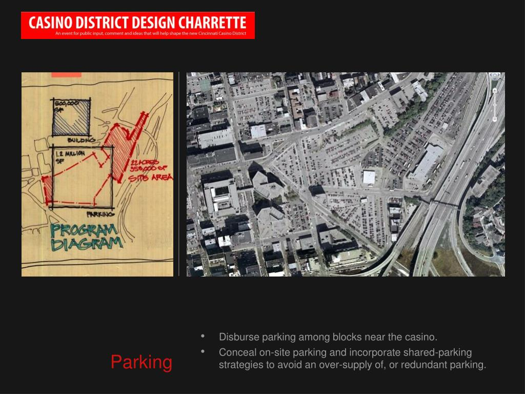 Disburse parking among blocks near the casino.