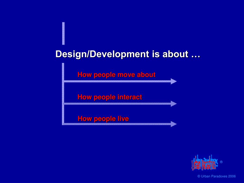 Design/Development is about …