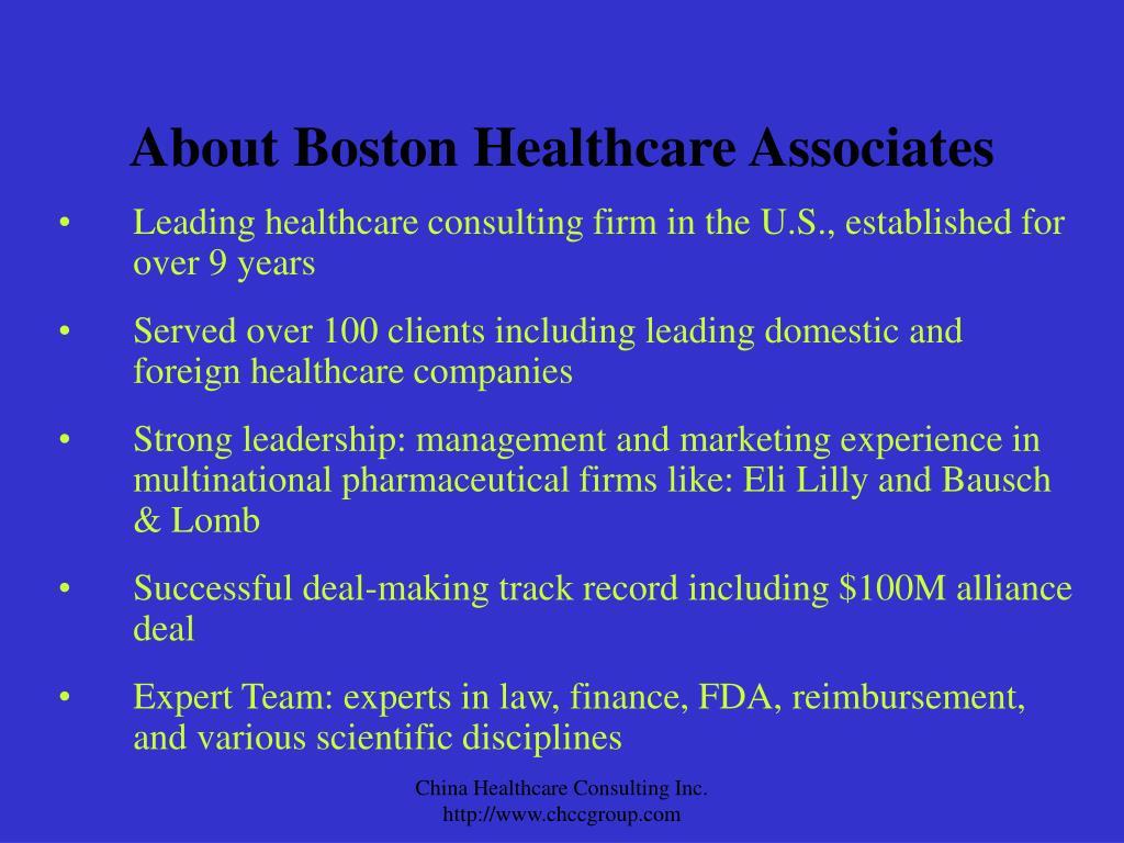 About Boston Healthcare Associates