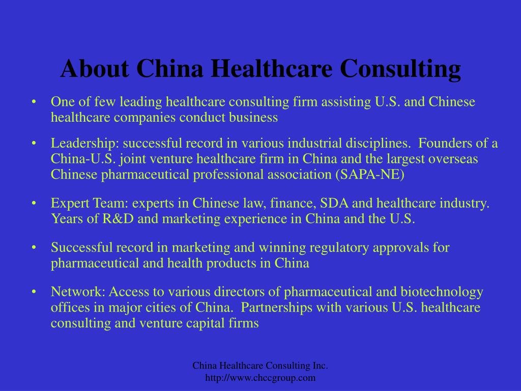 About China Healthcare Consulting