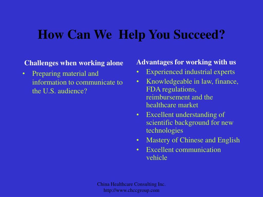 Challenges when working alone