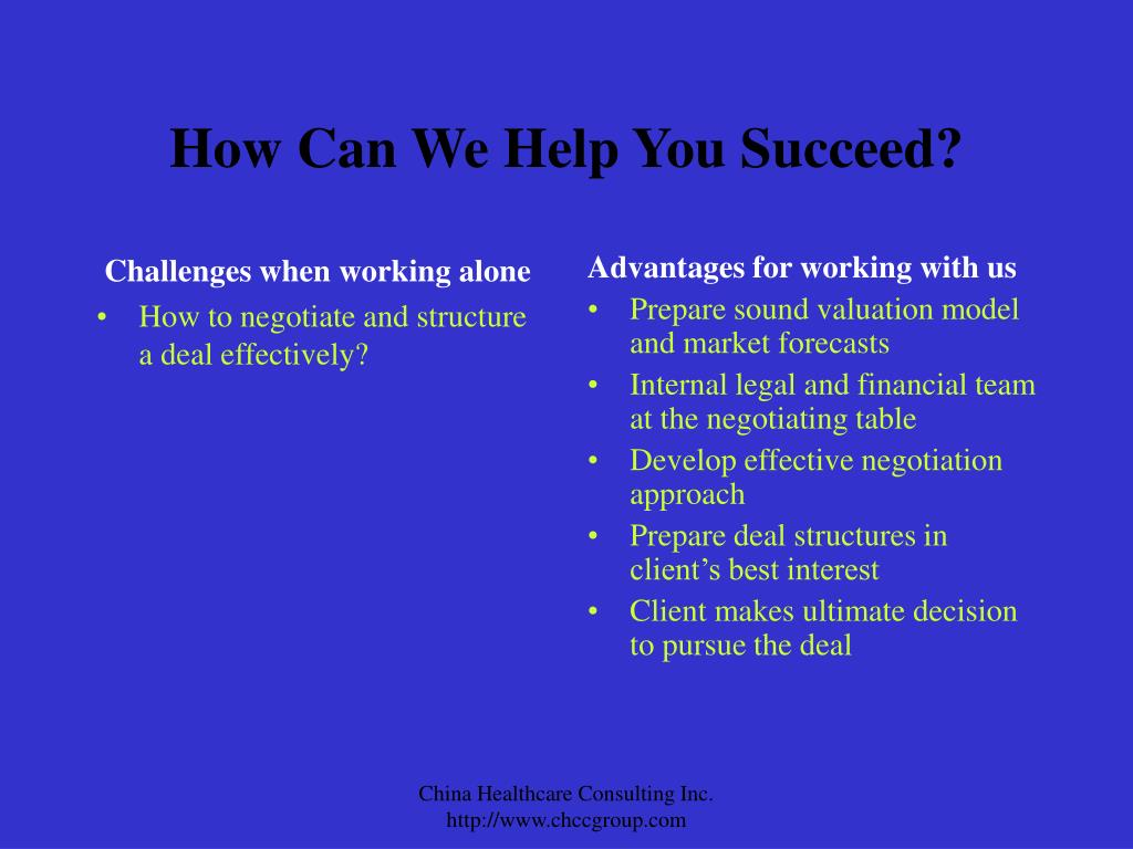 How Can We Help You Succeed?