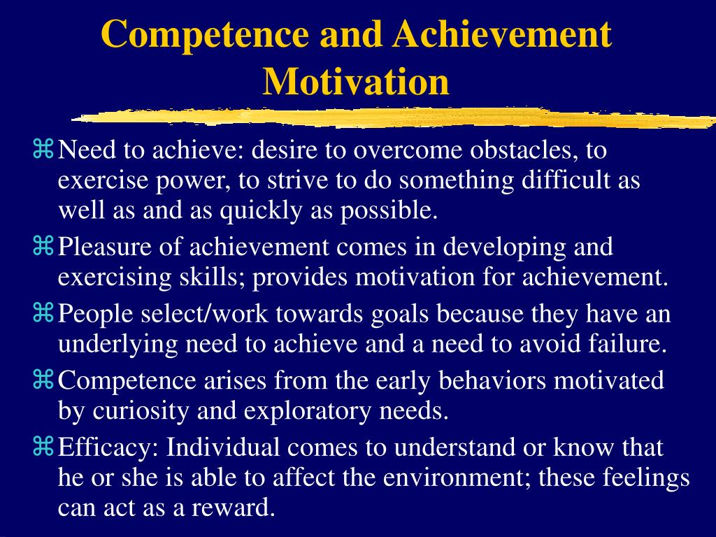 Competence and Achievement Motivation