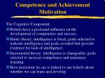 competence and achievement motivation11