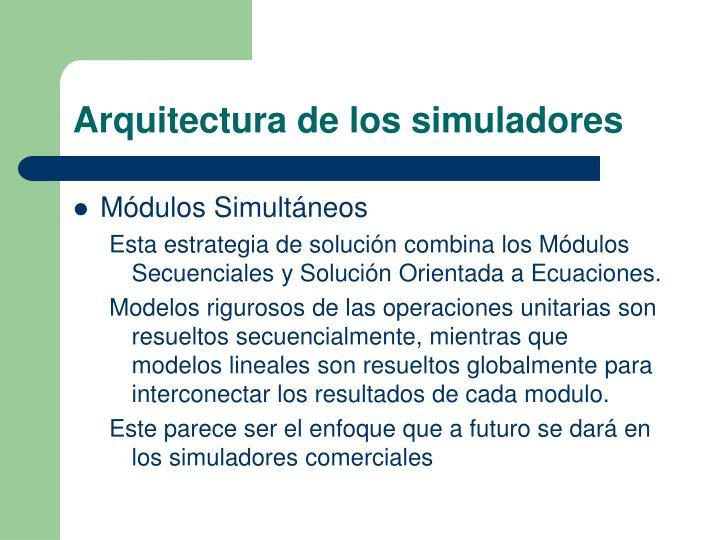 Arquitectura de los simuladores