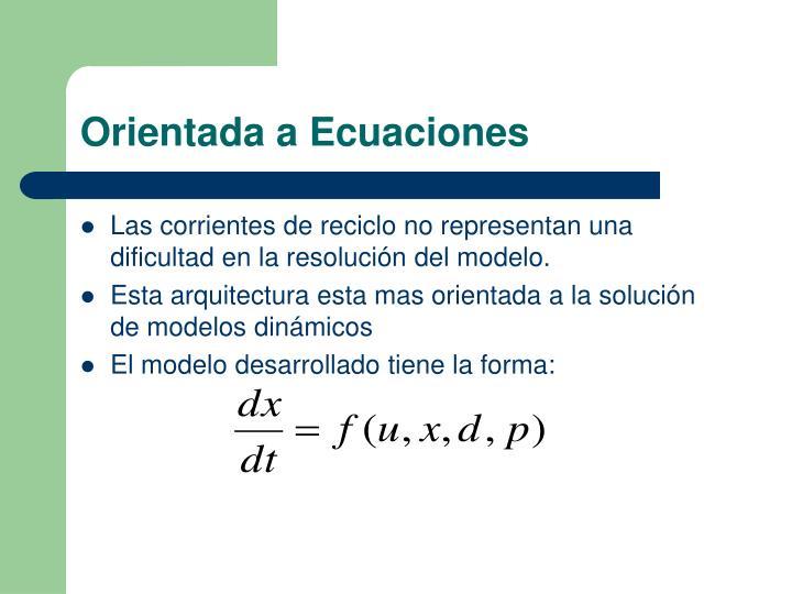 Orientada a Ecuaciones