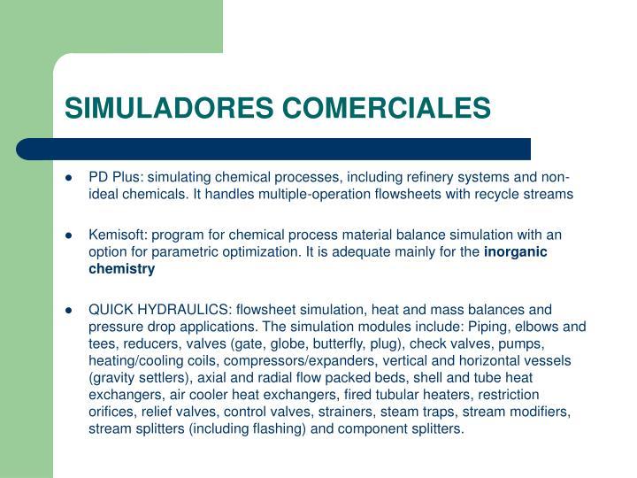 SIMULADORES COMERCIALES