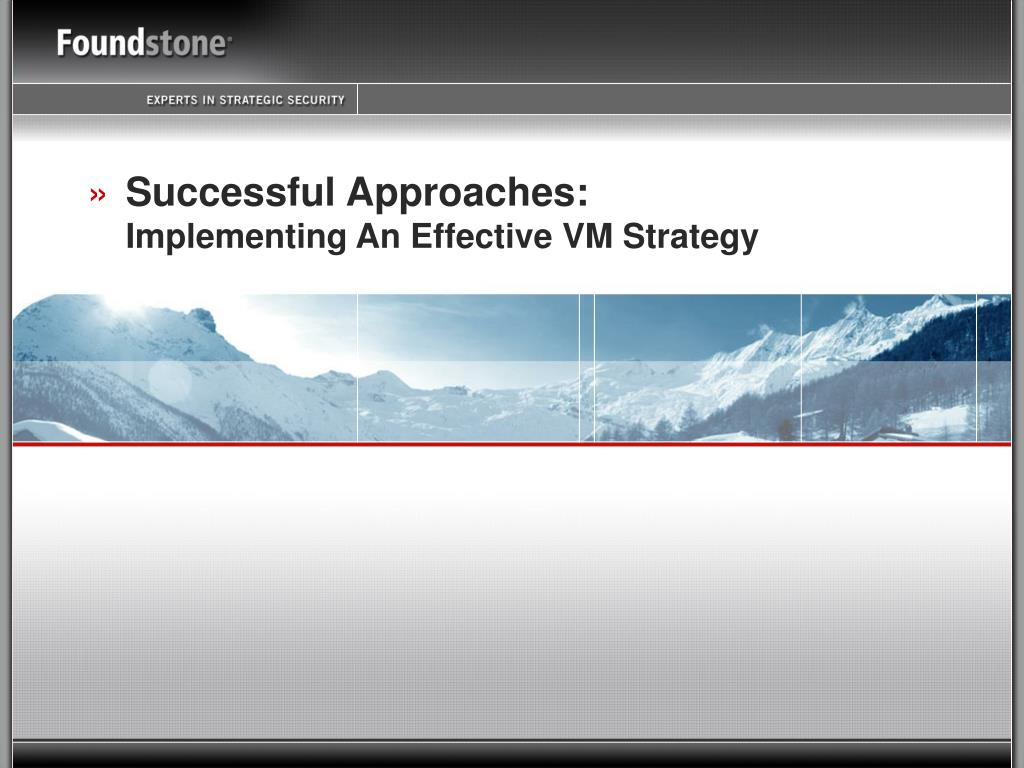 Successful Approaches: