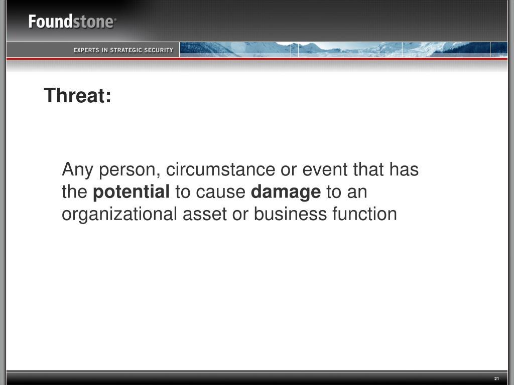 Threat: