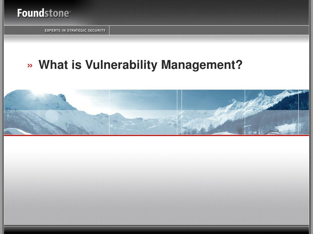 What is Vulnerability Management?