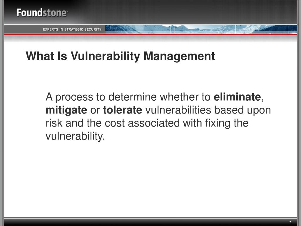 What Is Vulnerability Management