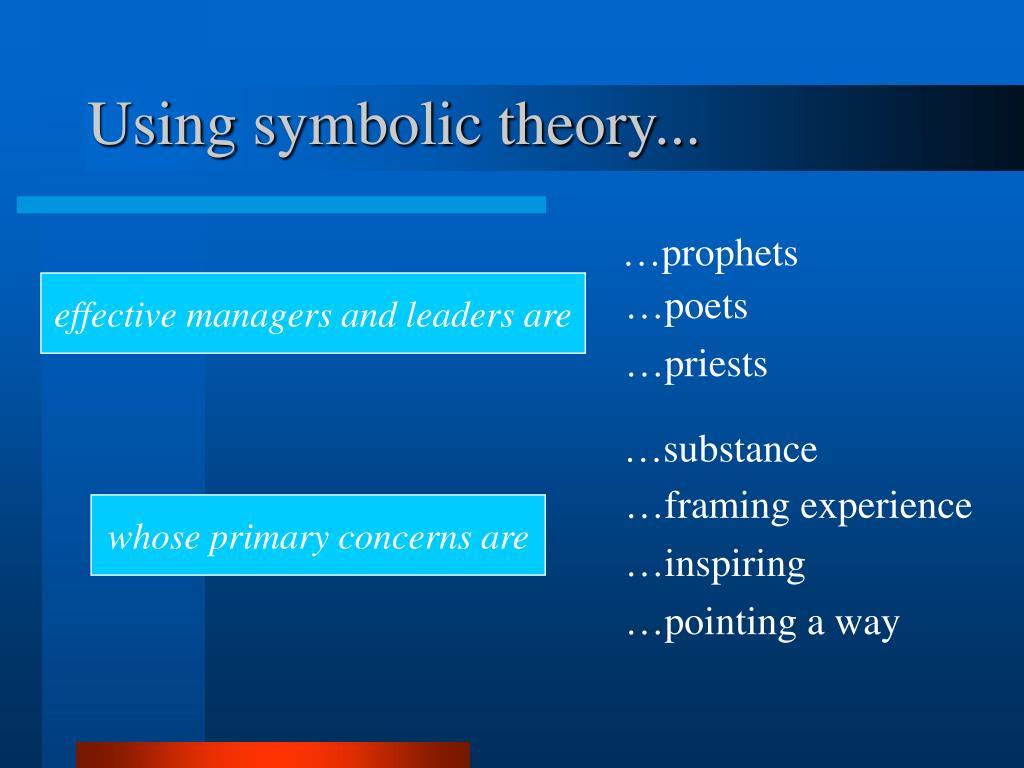 Using symbolic theory...