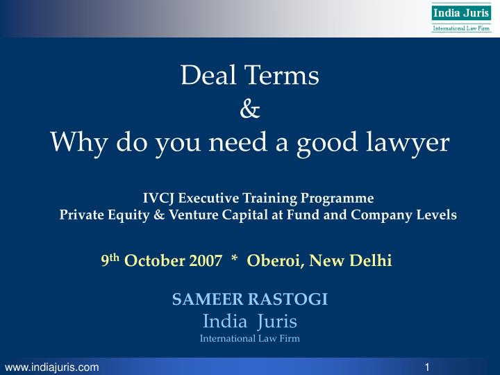Deal terms why do you need a good lawyer l.jpg