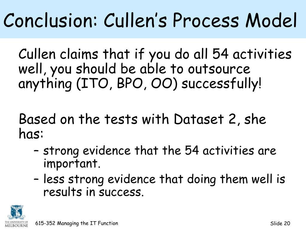 Conclusion: Cullen's Process Model