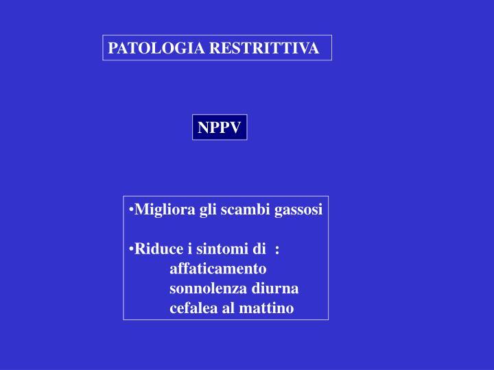 PATOLOGIA RESTRITTIVA