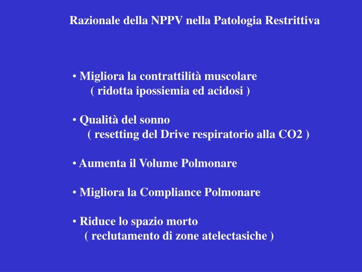 Razionale della NPPV nella Patologia Restrittiva