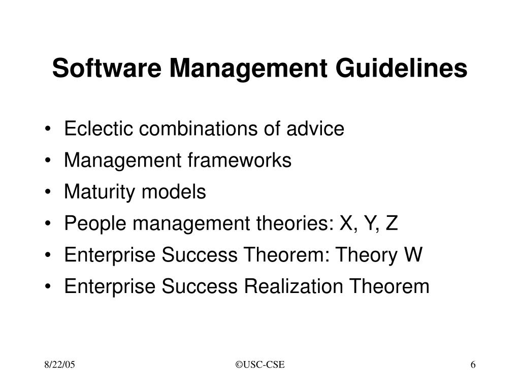 Software Management Guidelines