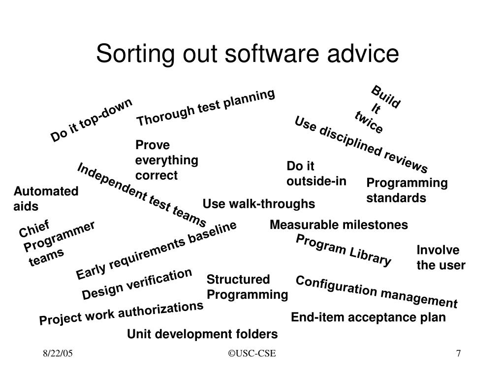 Sorting out software advice