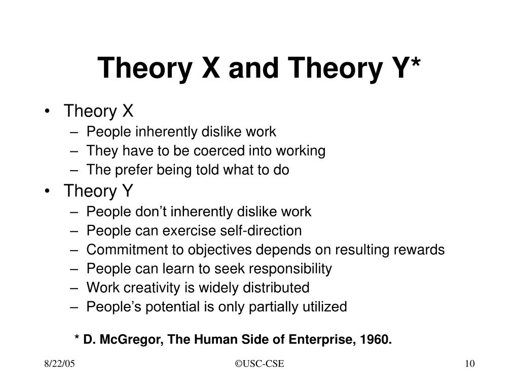 Theory X and Theory Y*