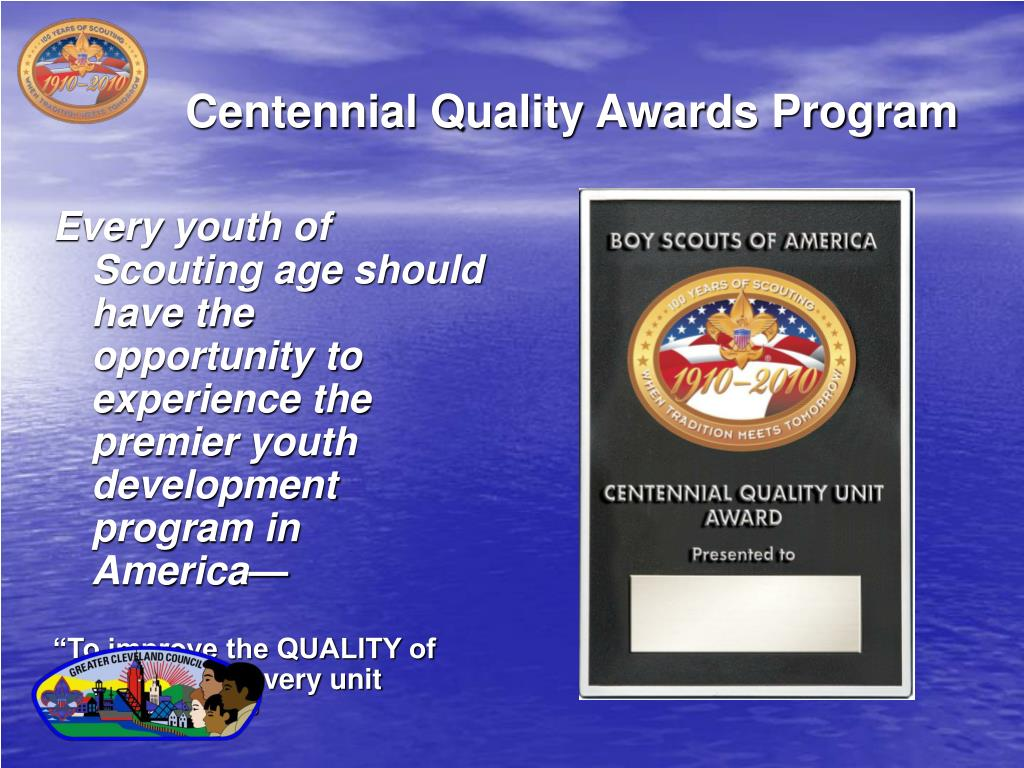 Centennial Quality Awards Program