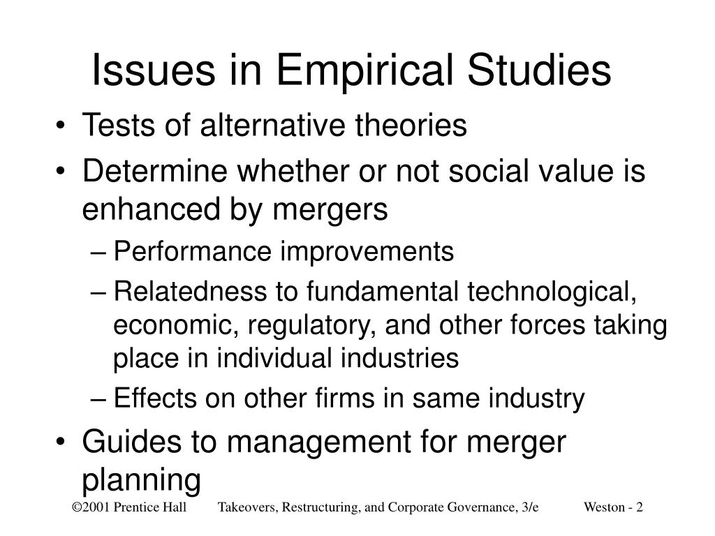 Issues in Empirical Studies