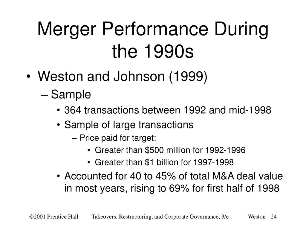 Merger Performance During the 1990s