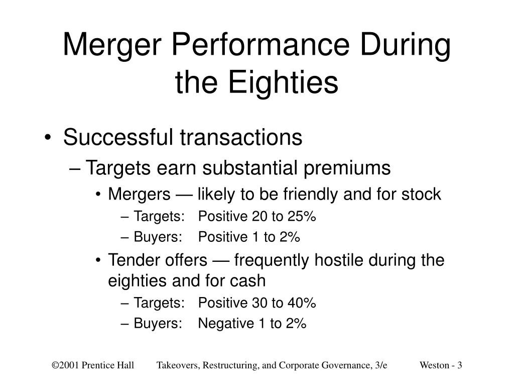Merger Performance During the Eighties