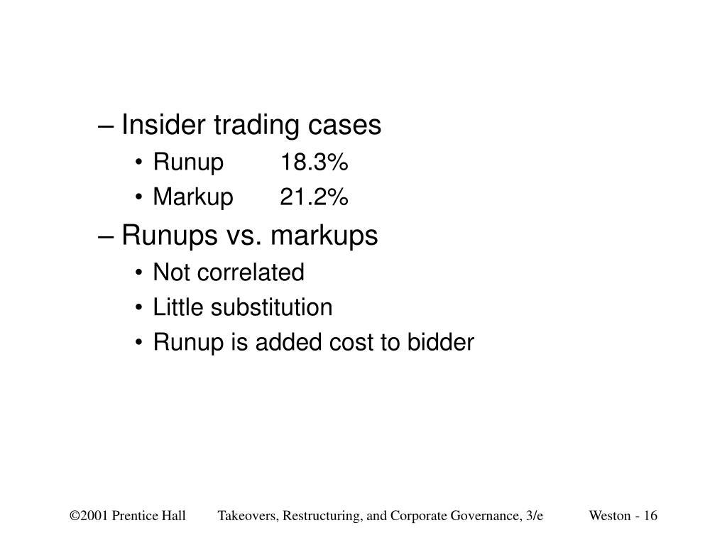Insider trading cases