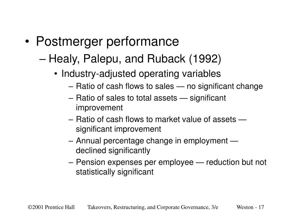 Postmerger performance