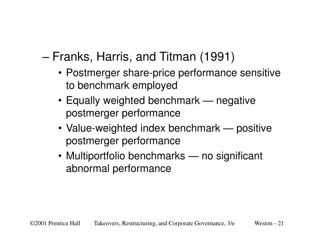 Franks, Harris, and Titman (1991)