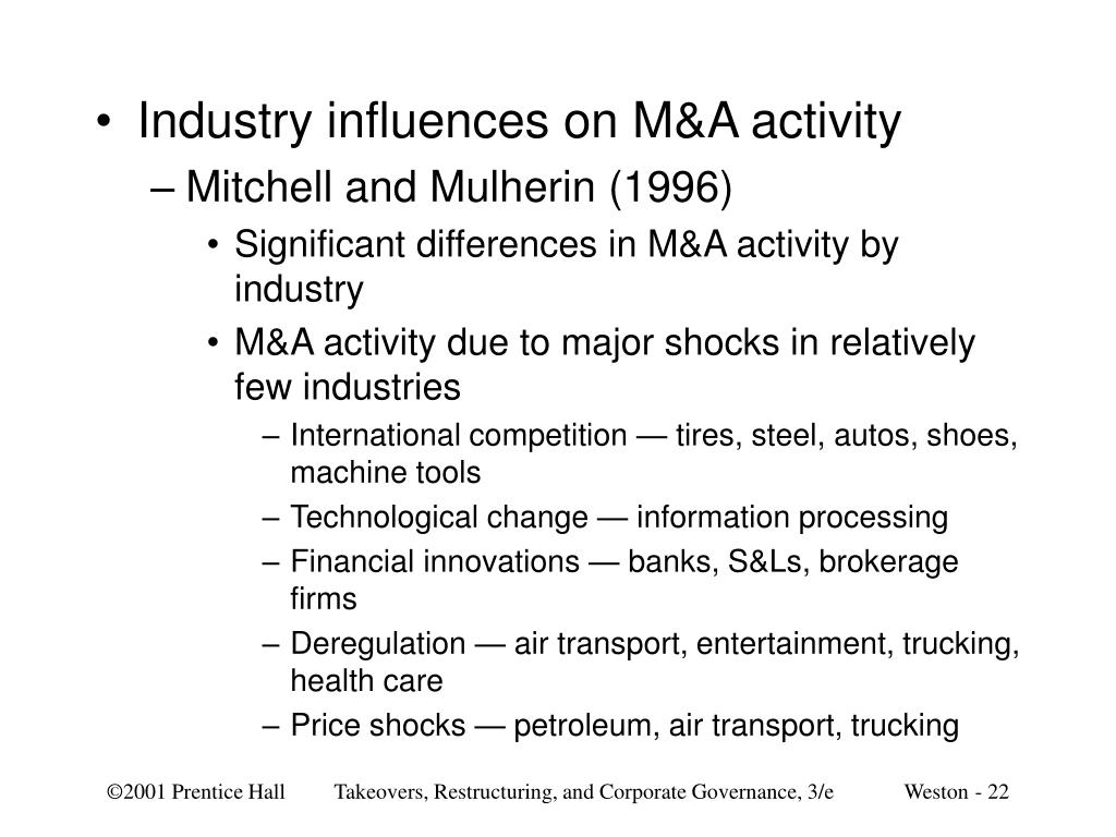 Industry influences on M&A activity