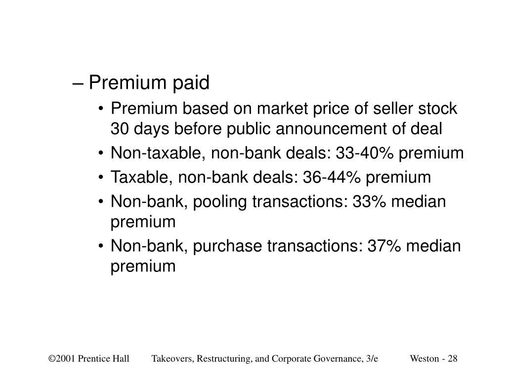 Premium paid